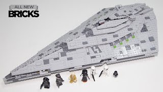 Lego Star Wars 75190 First Order Star Destroyer Speed Build