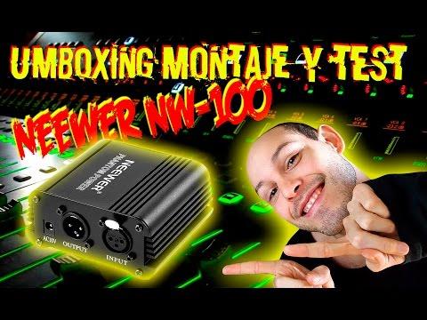 Unboxing, Montaje y Test Phantom Power NEEWER NW-100 Español
