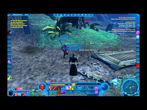 SWTOR: Sith Assassin Blue, Red, Yellow Double Bladed Lightsabers! HD
