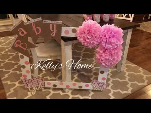 Kelly's Home- Baby Shower Photo Frame For Pictures