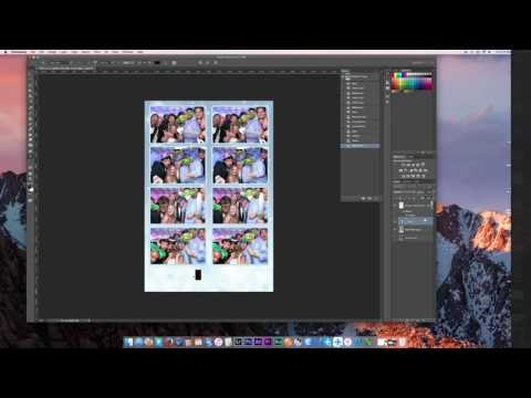 How to make a photo booth template in Photoshop NEW 2016