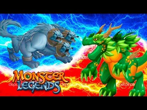 Cupid и Coldberus Monster Legends - 130 Атлетический остров Greenosaur 90
