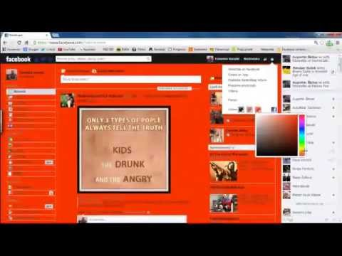 How to change color on facebook profile