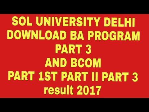sol ba programme result 2017
