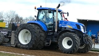 New Holland T7030, T7050, T7060, T7.220 & 8970A Pulling The Sledge at Gl. Estrup | Tractor Pulling