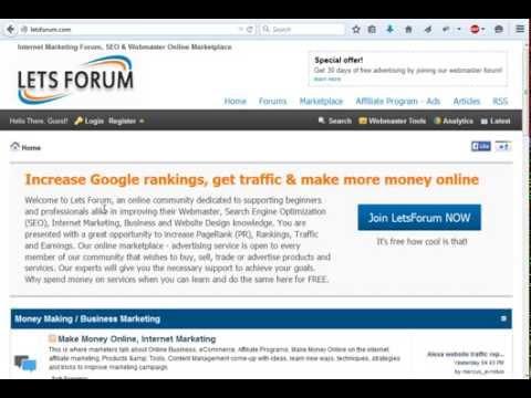 The Best Internet Marketing Forum and webmaster Online Marketplace - LetsForum.com
