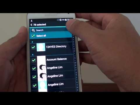 Samsung Galaxy S5: How to Export Contacts to SIM Card