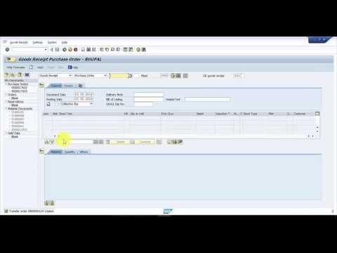 Simple Inbound Process in SAP  -  SAP WM Business Process