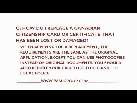 How Do I Replace A Canadian Citizenship Card That Has Been Lost Or Damaged?