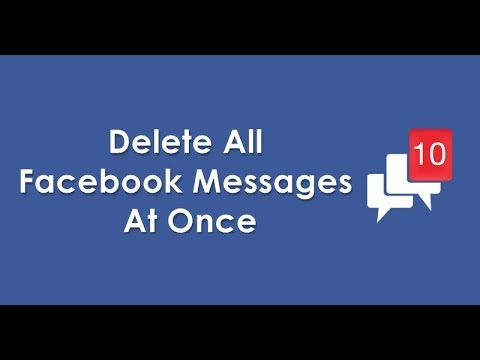DELETE ALL FACEBOOK MESSAGES in One CLICK | Delete Multiply  2018 I Giggstar