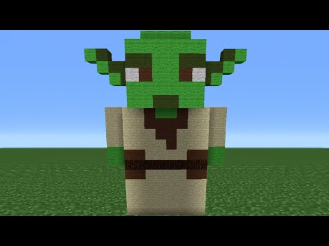 Minecraft Tutorial: How To Make A Yoda Statue