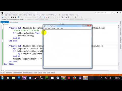 Project My Notepad Part 8 in VB NET 2012