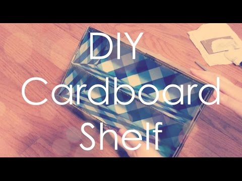 DIY Cardboard Shelf