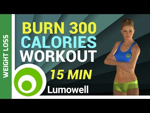 Burn 300 Calories Workout - 15 Minute Exercise to Lose Weight