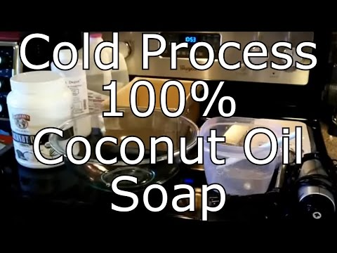 How To Make 100% Coconut Oil Soap