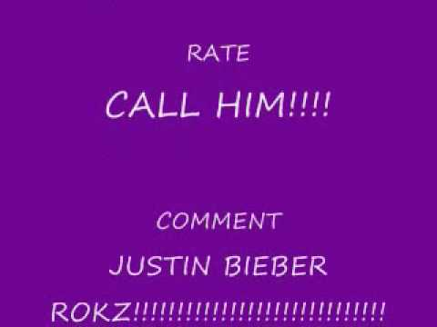 Justin Bieber's cell phone number.wmv
