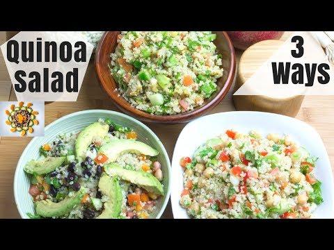 Quinoa Salad 3 Ways | Weight Loss Quinoa Salads 3 Ways | Quinoa Chickpea Salad Recipe