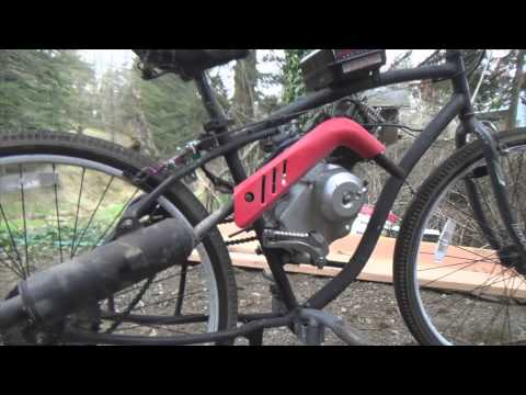 Final Product!! Putting Dirt Bike Motor on Bicycle (part 4/4)