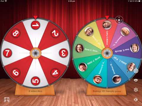 Using Classroom Roulette App in PhysED