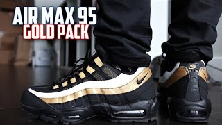 san francisco 7e0d6 3213e Nike Air Max 95 OG Gold REVIEW and On-Feet   SneakerTalk365