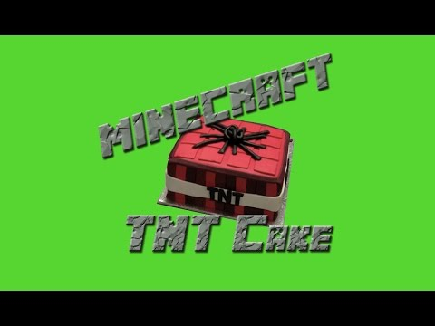 Minecraft TNT Cake - Fondant Minecraft Cake