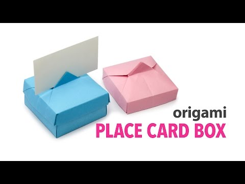 Origami Place Card Box + Lid Tutorial ♥︎ DIY ♥︎ Paper Kawaii