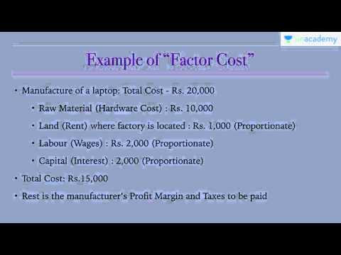 Unacademy Economics Lecture for IAS: National Income Accounting : Factor Cost & Market Price