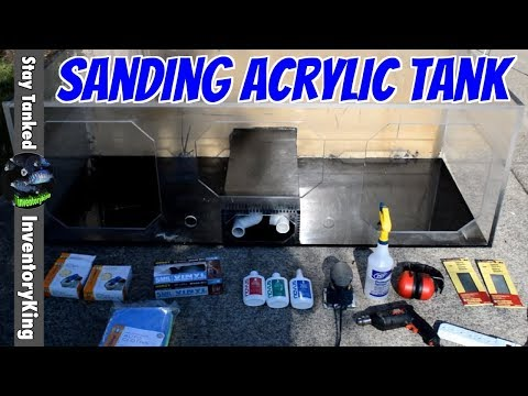 How To Restore An Acrylic Aquarium | Step by Step | SANDING The Surface ON A 220 Gallon Fish Tank