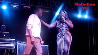 Sista Afia Romances a fan on stage