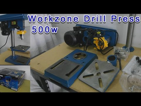 Aldi 500w Drill Press Workzone Unboxing Assembly Download