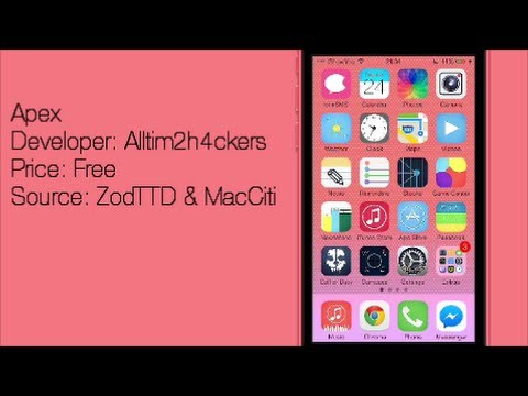 Apex: Flat Winterboard Theme For iOS 7