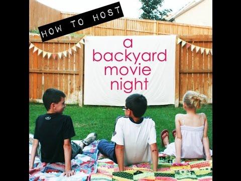 DIY Backyard Movie Night!