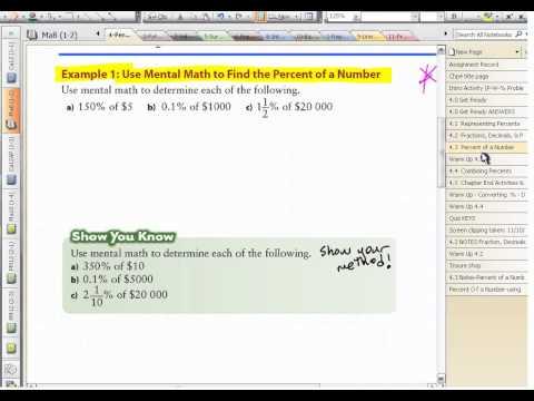Ma8 4.3 (2) Percent of a Number Using a Calculator