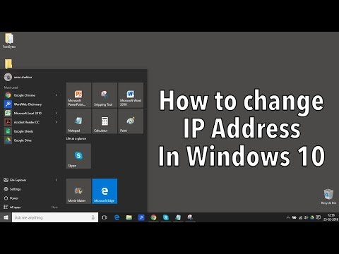 How to change computer IP Address manually in windows 7,8,8.1,10