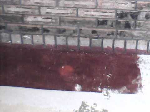 Muriatic Acid washing paint off concrete part 2