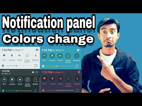 How to Notification Panel Change Without Root | Notification Color Change | mobile | by  itech