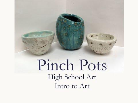 HS Art - Clay Pinch pot demo