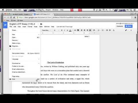 Ugly Google Docs Header