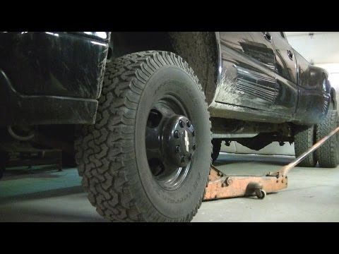 02 Chevy Dually Front Wheel Bearing Replacement