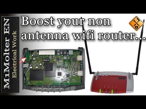 Boost your non antenna wifi router - M1Molter EN