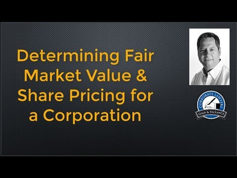 How to Value Shares of a Business Using Fair Market Value
