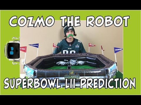 Cozmo the Robot | Predicting the Super Bowl Winner | Episode #76 | #cozmoments