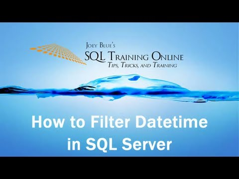 SQL Date Comparison - How to filter Datetime in SQL Server - SQL Training Online