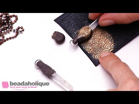 How to Use Crystal Clay on Crystal Points to Create Unique Pendants by Becky Nunn