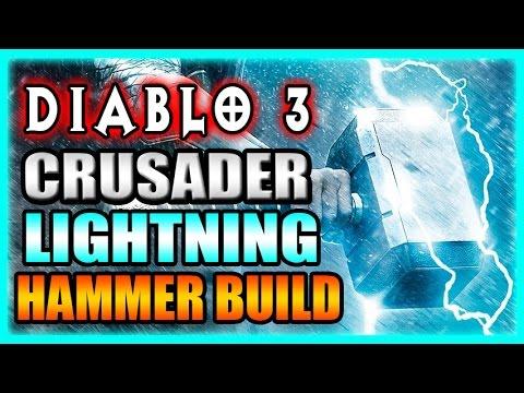 Diablo 3 Crusader Build 2.3 Lightning Blessed Hammer Build Gameplay Preview