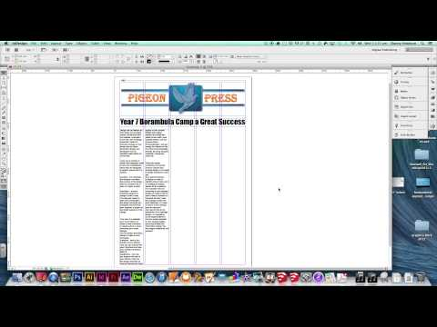 Newspaper Page Layout using InDesign