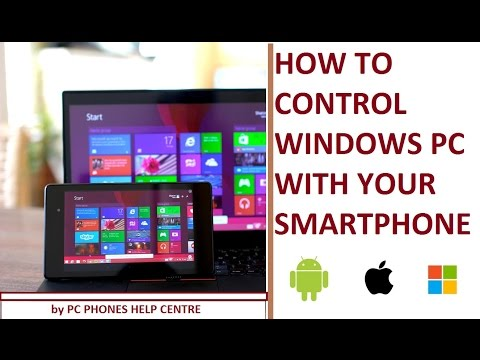 How to Remote Windows PC with your smartphone [iPhone/Android/Windows Phone]