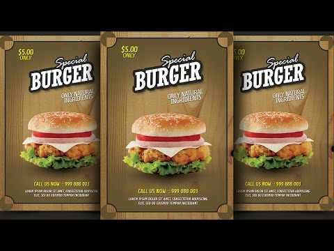 Create Burger Promotion Flyer Photoshop Tutorial