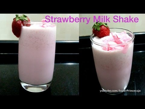 Yummy Strawberry Milkshake at Home Recipe | Cool Summer Drink