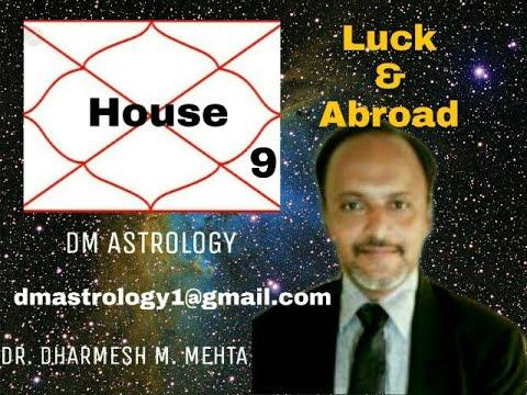 9H of Bhagya, Fortune, luck, Gurus, Dharma in Vedic Astrology by Dr Dharmesh Mehta